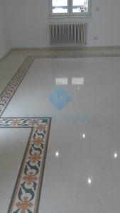 lucidatura della graniglia di marmo Lecce