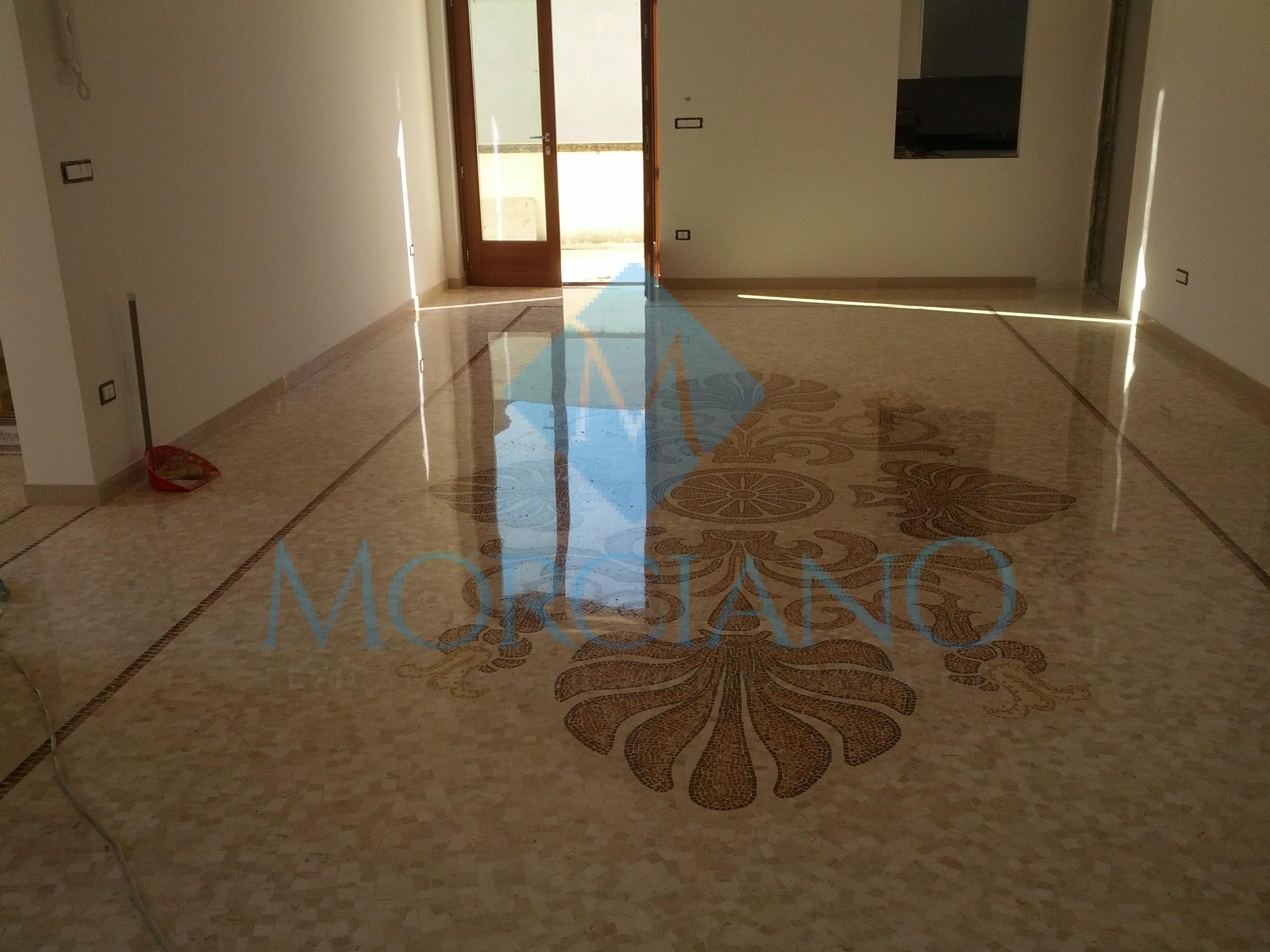 Lucidatura di un pavimento a mosaico Brindisi