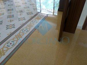 ripristino del pavimento in graniglia di marmo