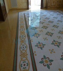 Levigatura pavimento in graniglia di marmo Brindisi