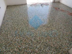 Levigatura pavimento in graniglia di marmo Lecce