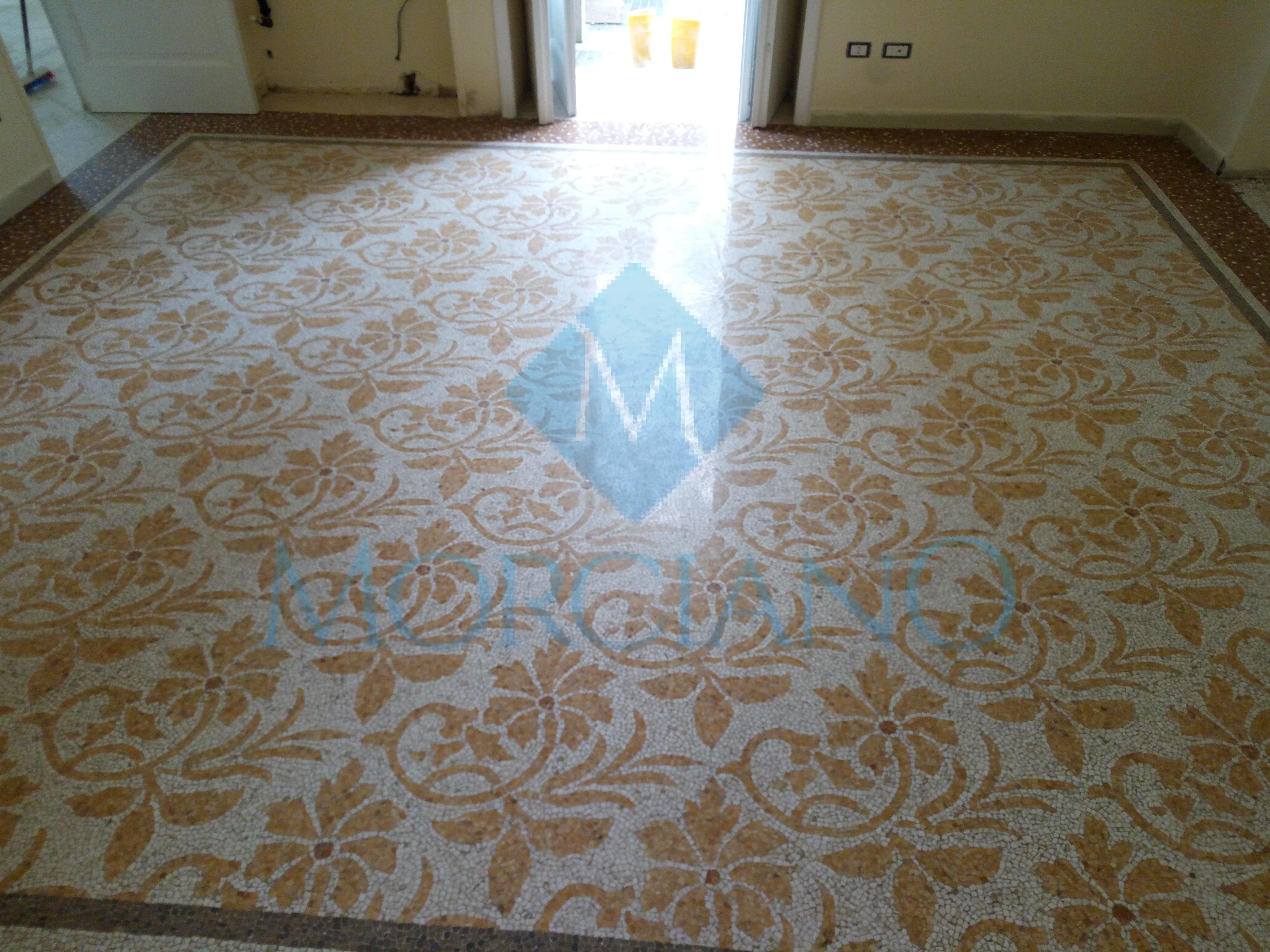 Levigatura di un pavimento a mosaico Brindisi