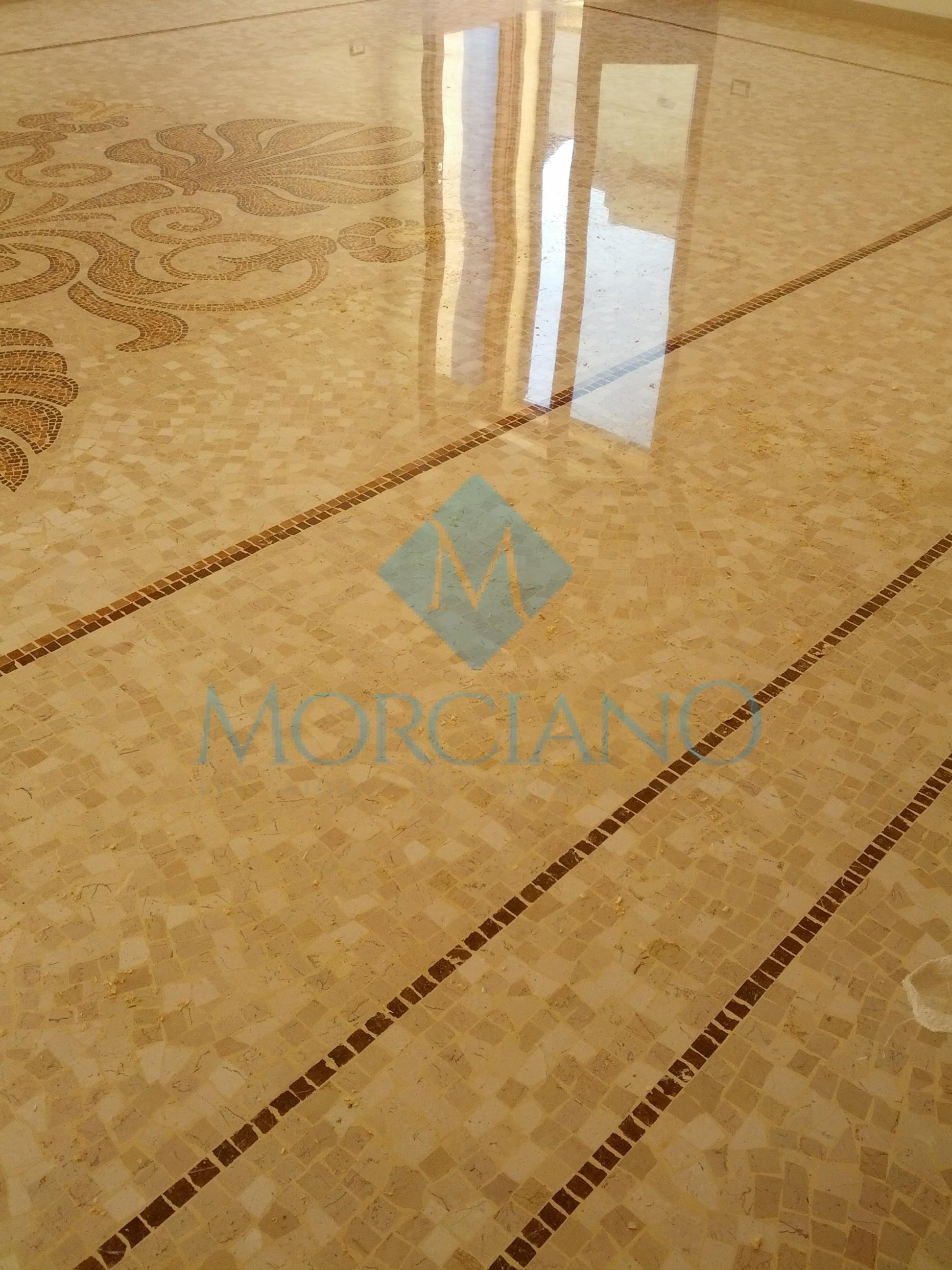Levigatura e lucidatura di un pavimento a mosaico a lecce for Mosaico pavimento
