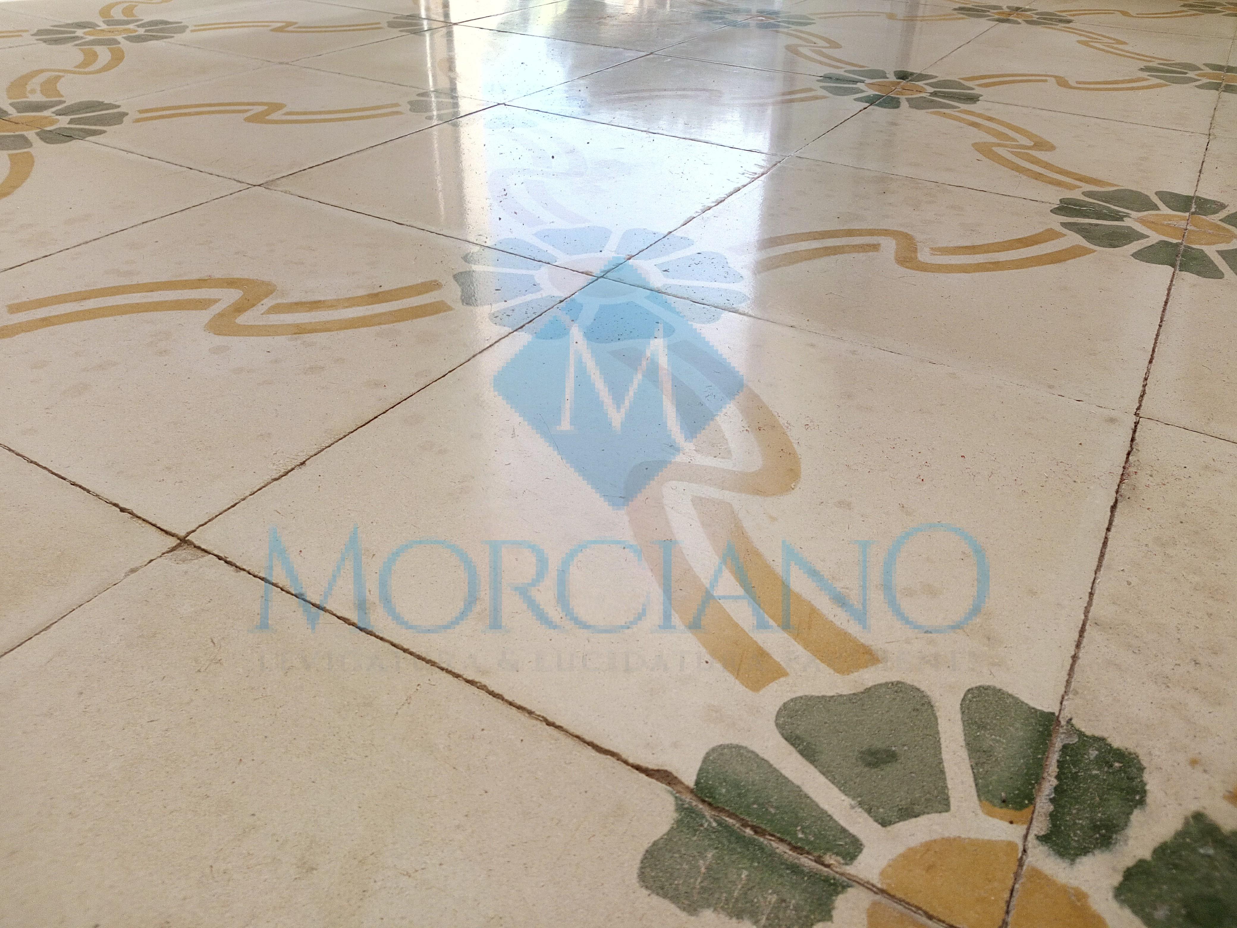 Trattamento pavimento in pastina di cemento o cementine a lecce e