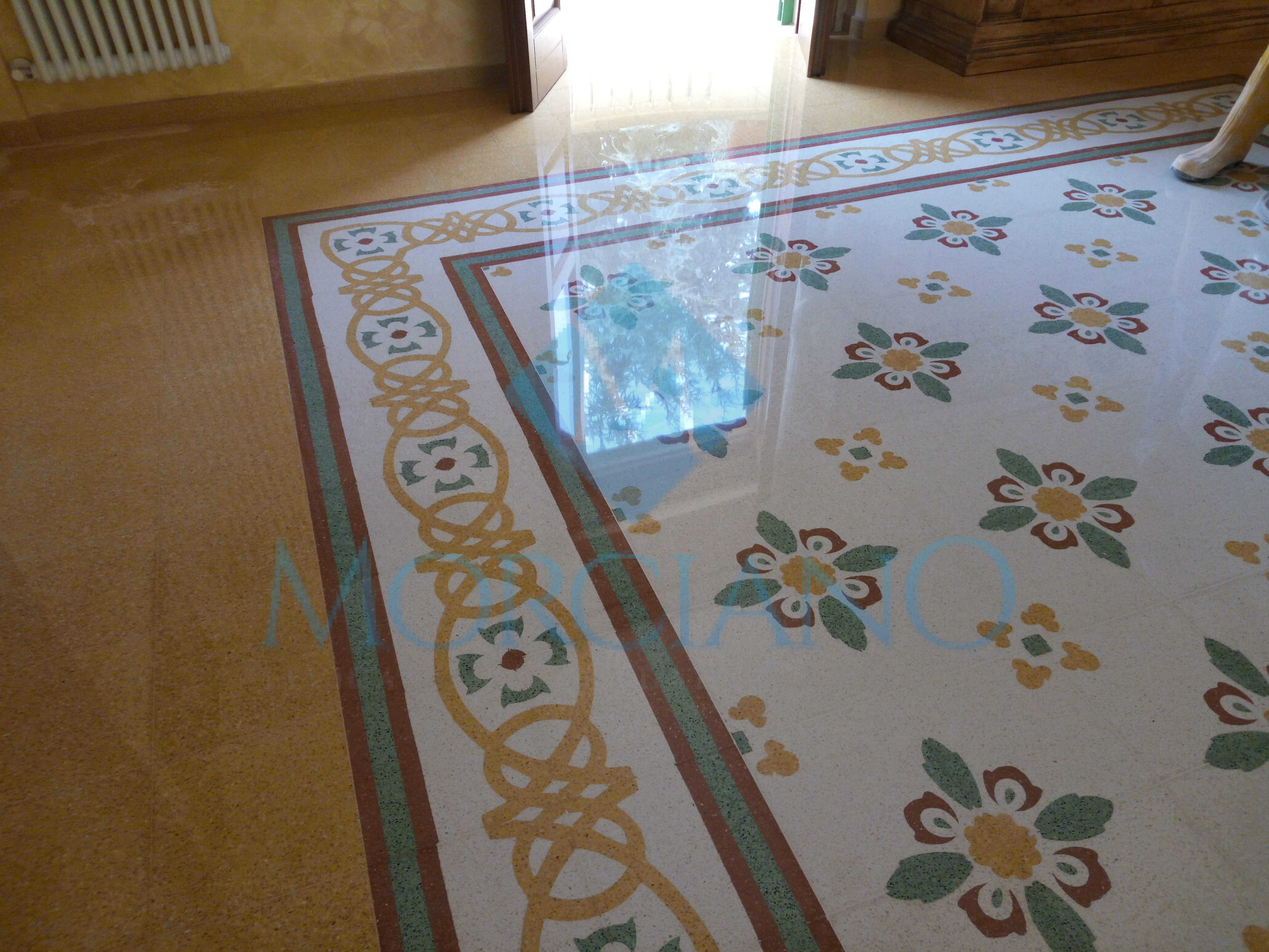 Pavimento in graniglia di marmo pavimenti in graniglia - Piastrelle tipo veneziana ...